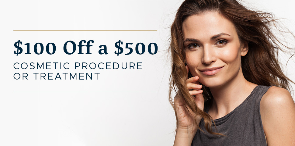 $100 Off of $500 for NEW Cosmetic Patients Only